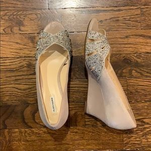 Brand new heels/wedges, champagne color size 8